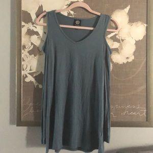 Cute cold shoulder mini dress